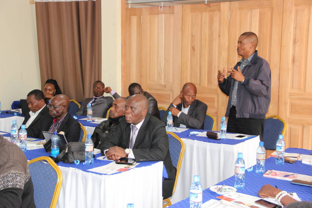 Government of Kenya, Cooperative team leader sharing during the SPIREWORK data collection workshop in Naivasha