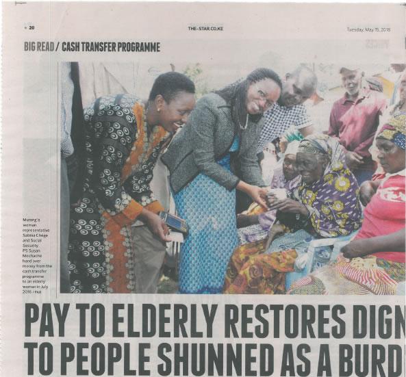 APSP Newspaper  Cash transfers beneficiary